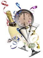 Happy New Year!  (Image licensed from the Microsoft Office Clip Art Gallery.)