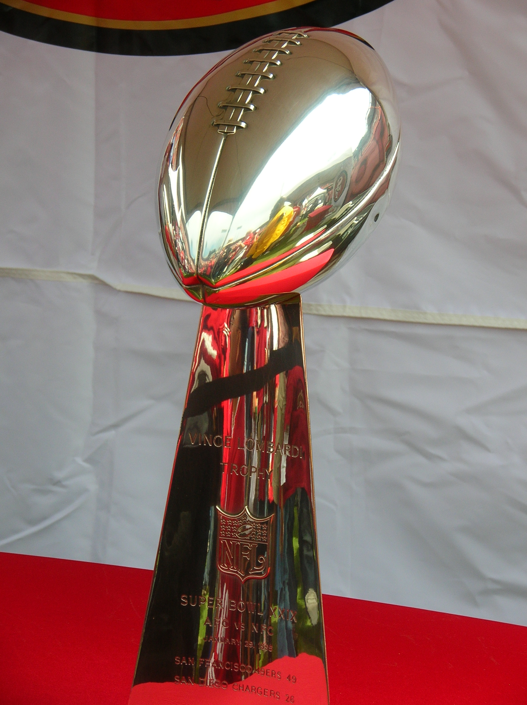 The Super Bowl Vince Lombardi Trophy - Click for larger image